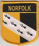 Norfolk Embroidered Flag Patch, style 07